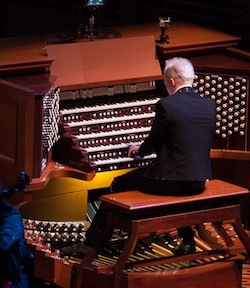 Organist Cameron Carpenter <br>Photo by Kristen Loken