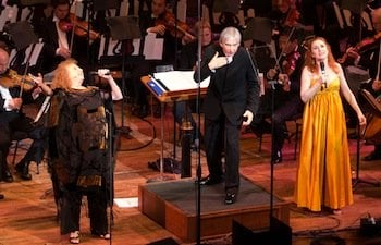 Val Diamond, Soprano Laura Claycomb and Music Director Michael Tilson Thomas<br>Photo by Kristen Loken