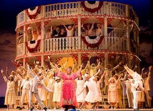 Queenie and the chorus on the Cotton Blossom Photo by Scott Suchman/Washington National Opera