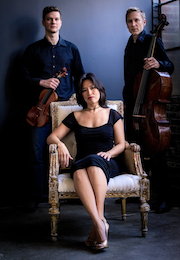 The Bella Trio — Nathanael Bartley, Mimi Lee, Eric Gaenslen — performs on June 26
