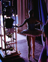 Leutwyler's photo from the wings at NYC Ballet during Balanchine's <em>Serenade</em>
