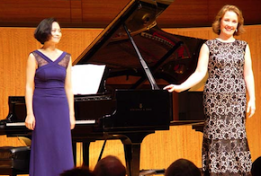 Sasha Cooke, with accompanist Pei-Yao Wang, at last month's SF Performances recital Photo by Michael Strickland