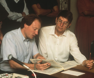Decca producer Andrew Cornall at playback session with Herbert Blomstedt in 1987 Photos by Bob Adler/Decca