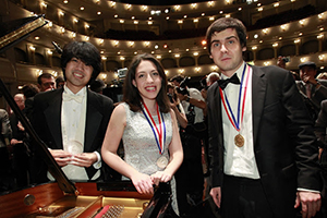 Cliburn winners Chen, Rana, Kholodenko. (Photo by Ralph Lauer / The Cliburn)