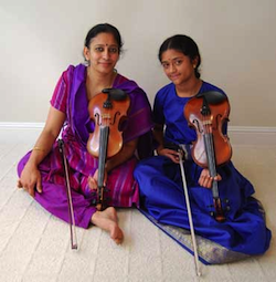 Anuradha Sridhar (left), with student Sruti Sarathy Photo by Sherwood Chen