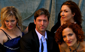 <em>Don Giovanni</em> principals: Angela Eden Moser, Anders Froehlich, Elizabeth Baker, Eileen Meredith Photo by Laura Lundy-Paine