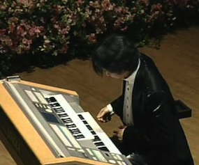 Weicheng Zhao at the Electone Organ