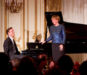Von Stade and Jake Heggie at a Pacific Musical Society gala