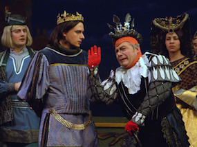 Vann as Hilarion with Rick Williams as King Gama