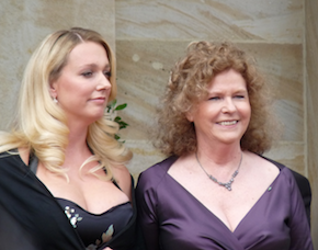 Katharina Wagner and Eva Wagner-Pasquier in Bayreuth, 2009