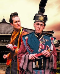 Chris Uzelac as Koko and Charles Martin as Pooh-Bah in The Mikado