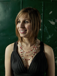 Mezzo Laurie Rubin, wearing a necklace she designed and crafted