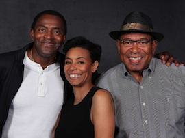 Steven Anthony Jones, on the right, with Carl Lumbly and Margo Hall