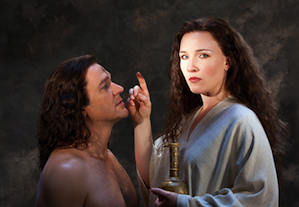 Nathan Gunn and Sasha Cooke in <em>Mary Magdalene</em> Photo by Henry Fair