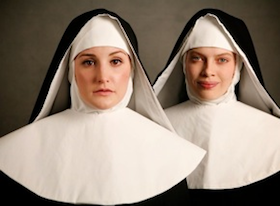 Julie Adams sang Blanche, with Emma McNairy as Constance, in the S.F. Conservatory's <em>Dialogues of the Carmelites</em> Photo by Betsy Kershner