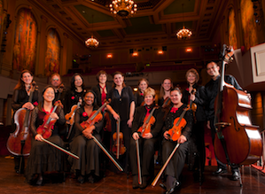 The orchestra in Herbst Theatre Photo by David Allen