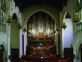 The church's 4,000-pipe Rosales Organ