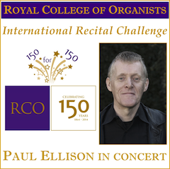 Paul Ellison joins international organ recital challenge