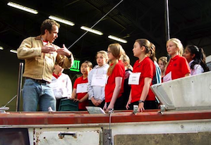 Stage director Brian Staufenbiel works with SFGC choristers Photo by Michael Strickland