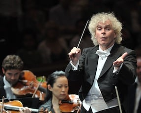 Simon Rattle is among scores of top conductors at the Proms Photos by Chris Christodoulou