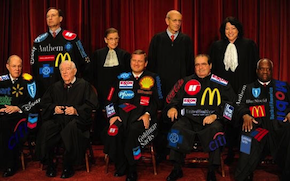 Jaundiced view of corporation-anthropomorphizing Justices, the subject featured in a Volti concert