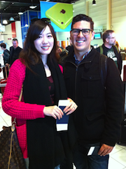 Proposal in Paris: newly engaged SFS clarinetist Steve Sanchez and Stella Shi Photos by Oliver Theil