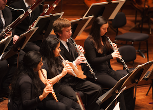 YO woodwinds: flutists Apoorva Rangan and Pavitra Rengarajan; oboists Liam Boisset and Erika Johnson