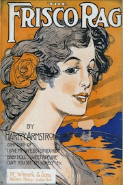 Color lithograph cover for Harry Armstrong's 1909 hit tune