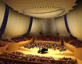 Ennead Architects' rendering of the hall's interior