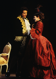 Frederica von Stade and Thomas Hampson in Susa's <em>Dangerous Liaisons</em>