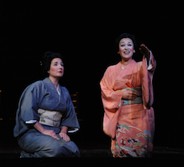 Mezzo-soprano Lisa Chavez as Suzuki and soprano Cecilia Violetta López as Cio-Cio-san