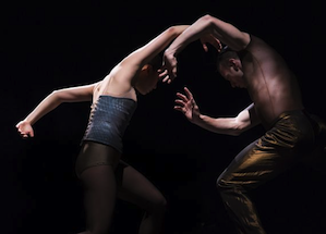 "Jin Young Won (left) and Jason Kittelberger perform in Jirí Kylián's ""Indigo Rose,"""