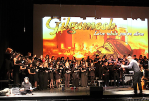 "from last year's oratorio: ""Gilgamesh:Live While You're Alive,"""
