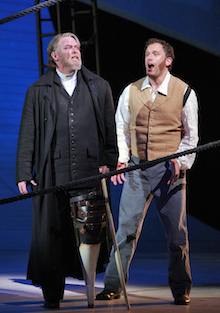 Moby Dick  Jay Hunter Morris (Captain Ahab) and Morgan Smith (Starbuck)