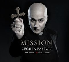 Cecilia Bartoli on <em>Mission</em> album cover: yes, it's her, air/hair-brushed