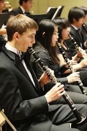 California Youth Symphony clarinet section