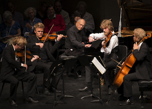 Danish String Quartet with pianist Gilbert Kalish Photo by Diana Lake