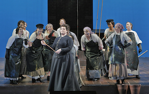 Erin Johnson (Mary) and the San Francisco Opera Chorus