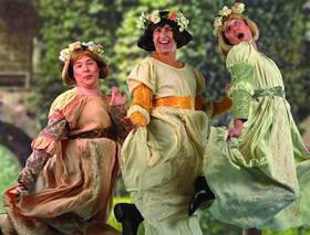 Michael Desnoyers as Cyril, David Sasse as Hilarion, and Chris Uzelac as Florian in the Lamplighters' <em>Princess Ida</em>