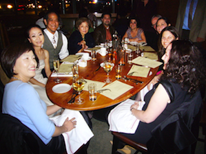 Meeting for dinner before a <em>Tosca</em> performance