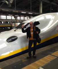 Emil Miland, about to board the Bullet Train
