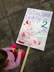 The youngest picket sign