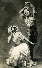 Nijinsky and Tamara Karsavina in the premiere of <em>Spectre de la Rose</em> Photo by Auguste Bert, Paris 1911