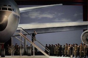 Nixon (Brian Mulligan) arrives in Beijing