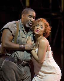 Eric Owens and Laquita Mitchell as Porgy and Bess Photo by Cory Weaver