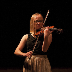 Jo Griffin performs at Crowden's eighth grade solo night Photo by Geoffrey Biddle
