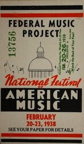 One of the federal project's festivals of American music
