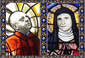 Virgil Thomson and Gertrude Stein identified with their subjects<br/>Photomontage by J. Dunn