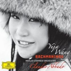 Yuja Wang, dressed for Rachmaninov (new CD) and Prokofiev (with the SFS)