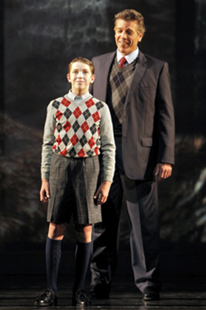"Henry singing in ""Heart of a Soldier"" with Thomas Hampson behind him, Ragazzi Boys Choir. 
